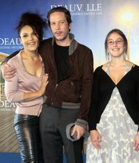 Faridah Rahouadj, Reda Kateb and Lea Fehner at the photocall of