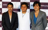 Won Bin, director Kang Je-Gyu and Jang Dong-Gun at the press conference of