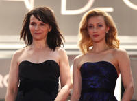 Juliet Binoche and Sarah Gadon at the premiere of
