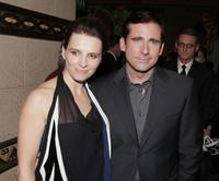 Juliette Binoche and Steve Carell at the premiere of Touchstone Pictures