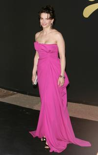 Juliette Binoche at the 60th International Cannes Film Festival, attend the 60th Anniversary Dinner.