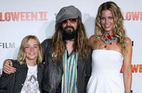 Chase Vanek, director Rob Zombie and Sheri Moon Zombie at the California premiere of