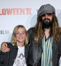 Chase Vanek and director Rob Zombie at the California premiere of