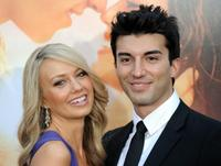 Melissa Ordway and Justin Baldoni at the premiere of