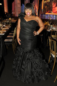 Amber Riley at the cocktail reception during the 17th Annual Screen Actors Guild Awards in California.