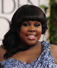 Amber Riley at the 68th annual Golden Globe awards in California.