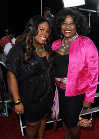 Amber Riley and Loretta Devine at the California premiere of