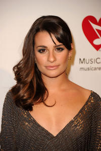 Lea Michele at the 2011 MusiCares Person of the Year Tribute to Barbra Streisand in California.