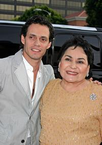 Marc Anthony and Carmen Salinas at the premiere of