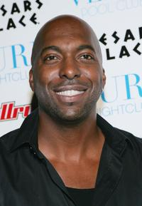 John Salley at the Venus Pool Club.