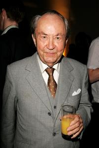 Peter Sallis at the aftershow party of the UK Charity premiere of