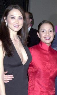 Sandra Allen and Lea Salonga at the after party of the Broadway opening of