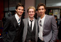 Ben Barnes, David Tudor and Robert Sheehan at the London premiere of