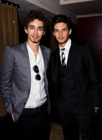 Robert Sheehan and Ben Barnes at the after party of