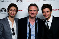 Robert Sheehan, Nick Hamm and Ben Barnes at the after party of