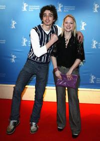 Robert Sheehan and Kimberly Nixon at the photocall of