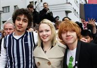 Robert Sheehan, Kimberly Nixon and Rupert Grint at the photocall of