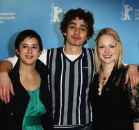 Lisa Barros D'Sa, Robert Sheehan and Kimberly Nixon at the photocall of