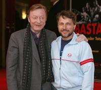 Otto Sander and Richy Mueller at the premiere of