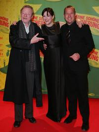 Otto Sander, Martina Gedeck and Heino Ferch at the premiere of