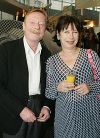 Otto Sander and Monika Hansen at the opening of Sarah Wiener restaurant.