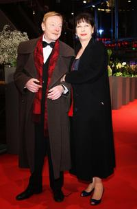 Otto Sander and Monika Hansen at the premiere of