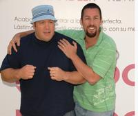 Adam Sandler and Kevin James at the photocall for the movie