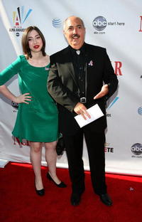 Miguel Sandoval and Guest at the 2008 ALMA Awards.