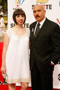 Miguel Sandoval and his daughter Olivia at the 2007 NCLR ALMA Awards.