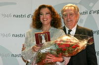 Stefania Sandrelli and Piero De Bernardi at the Nastri D'Argento Ceremony (Italian Movie Awards presented by the Association of Film Critics).