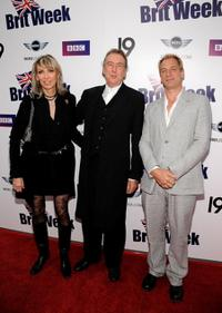 Tania Kosevich, Eric Idle and Julian Sands at the Champagne Launch of BritWeek 2009.