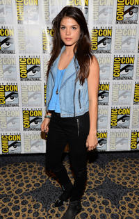 Marie Avgeropoulos at the press line of