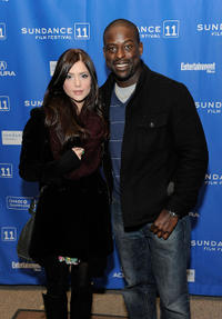 Janet Montgomery and Sterling Brown at the premiere of