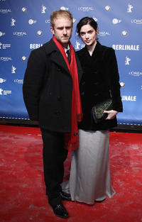 Ben Foster and Janet Montgomery at the opening party of 60th Berlin Film Festival.