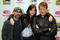 Jackie Earle Haley, Janet Montgomery and Mark Valley at the Day 3 of 2011 Wondercon in San Francisco.