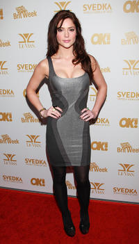 Janet Montgomery at the OK! Magazine and BritWeek Oscars party in California.