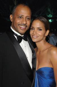 Ruben Santiago-Hudson and Halle Berry at the HBO Emmy after party.