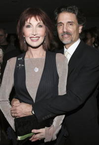 Chris Sarandon and Joanna Gleason at the 50th Annual Drama Desk Awards.