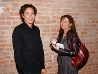 Susan Sarandon and Vito Schnabel at the Nest Foundation Benefit in New York City.