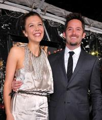 Maggie Gyllenhaal and Scott Cooper at the premiere of