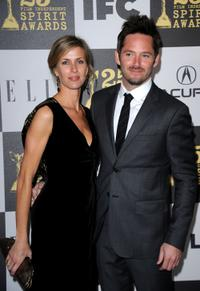 Jocelyne Cooper  and Scott Cooper at the  25th Film Independent Spirit Awards.