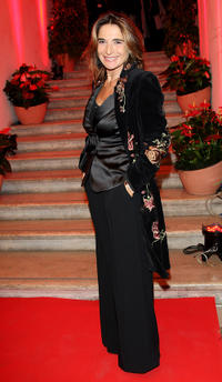 Lina Sastri at the opening party of 4th International Rome Film Festival in Italy.