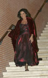 Lina Sastri at the Cinema And Fashion show during the Rome Film Festival.