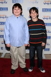 Robert Capron and Zachary Gordon at the premiere of