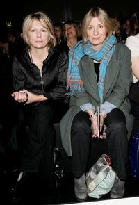 Jennifer Saunders and Victoria Wood at the Betty Jackson show during the London Fashion Week Autumn / Winter 2008.