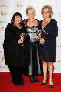 Dawn French, Dame Helen Mirren and Jennifer Saunders at the BAFTA Television Awards 2009.