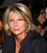 Jennifer Saunders at the Betty Jackson fashion show.