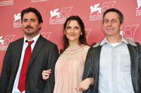 Director Pablo Larrain, Antonia Zegers and Alfredo Castro at the photocall of