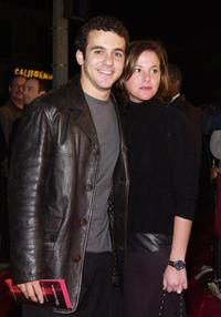 Fred Savage and his wife at the premiere of