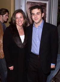 Jennifer Stone and Fred Savage at the premiere of